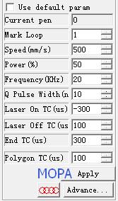 MOPA fiber laser marker