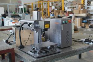 American customers fiber laser marking machine