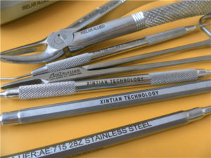 Laser Marking a Stainless Steel Medical I.D.
