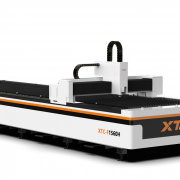 Fiber laser cutting machine.