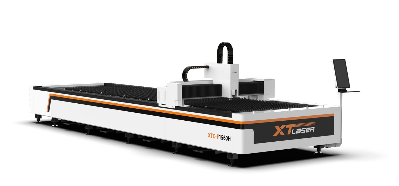 Fiber laser cutting machine.
