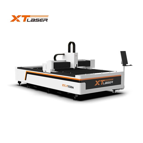 Fiber laser cutting machine working