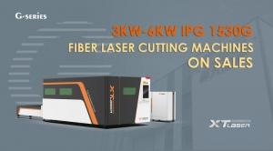 A fiber laser cutting machine.